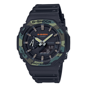 Casio Street Utility G-Shock Black with Camo Bezel