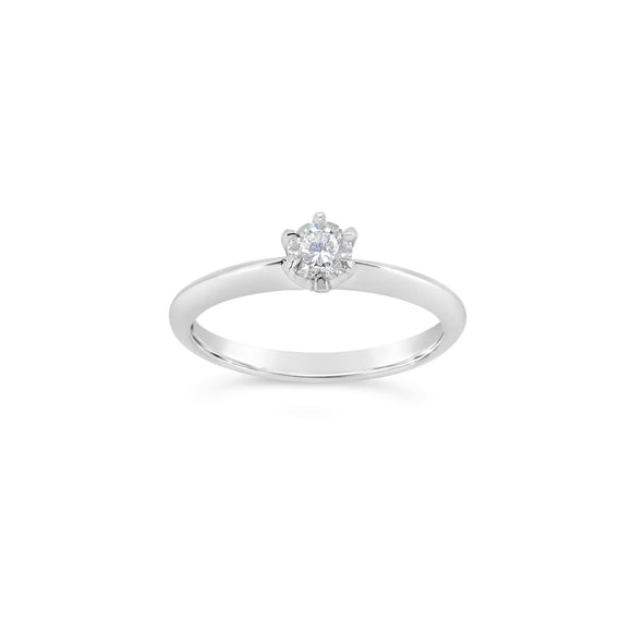9ct White Gold Diamond Classic Solitaire