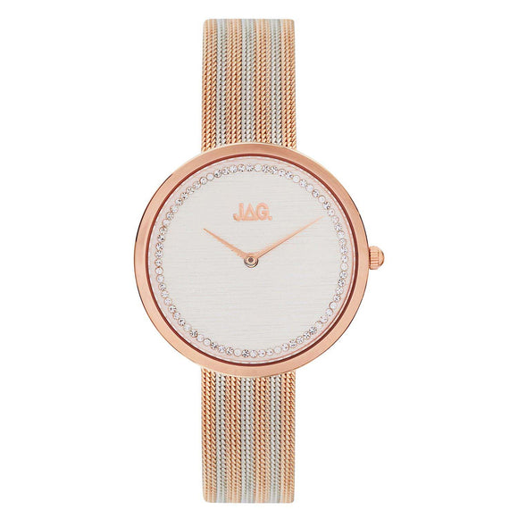 JAG Tegan Watch Rose & Silver Two Tone with Mesh Strap
