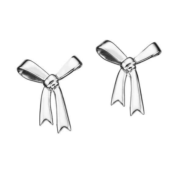 Karen Walker Large Bow Earrings Silver