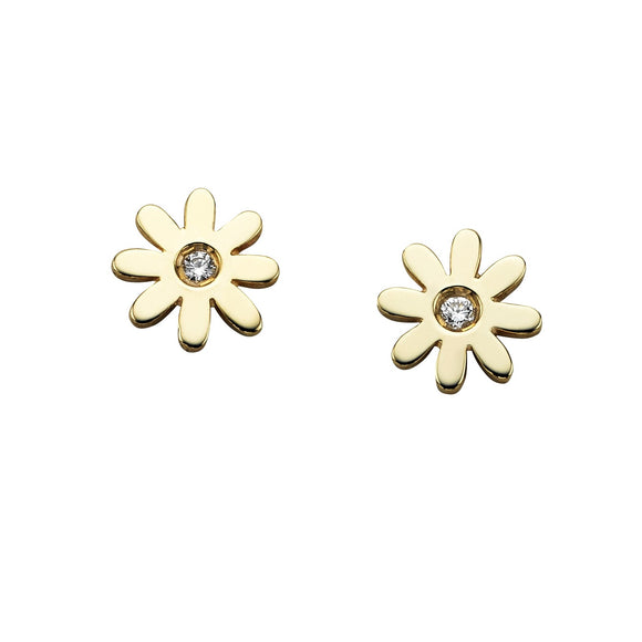 Karen Walker Gold Mini Daisy Studs