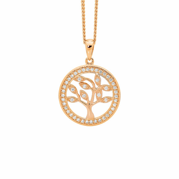 Ellani Rose Gold Tree of Life Pendant