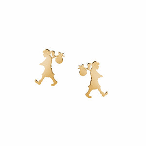 Karen Walker Mini Runaway Girl Studs Gold