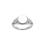 Karen Walker Society Signet Ring Silver