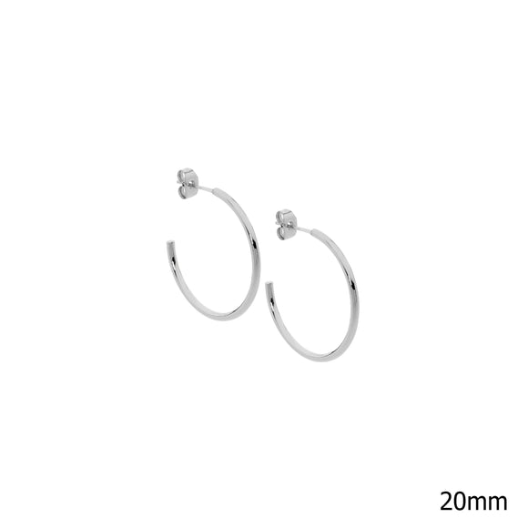Ellani Steel 20mm Hoop Earrings