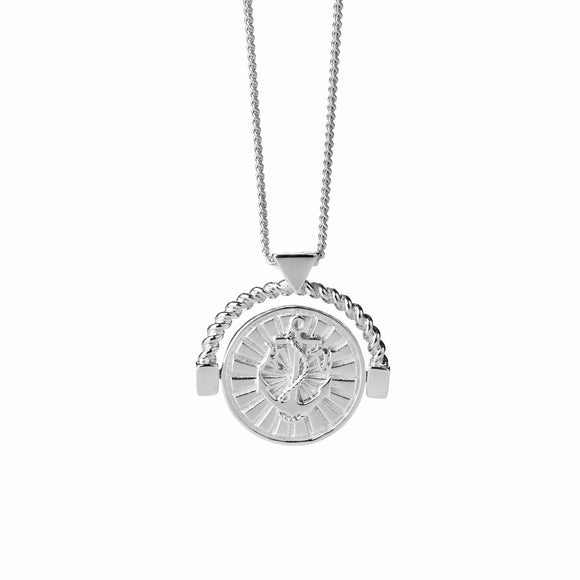 Karen Walker Voyager Spin Necklace Silver