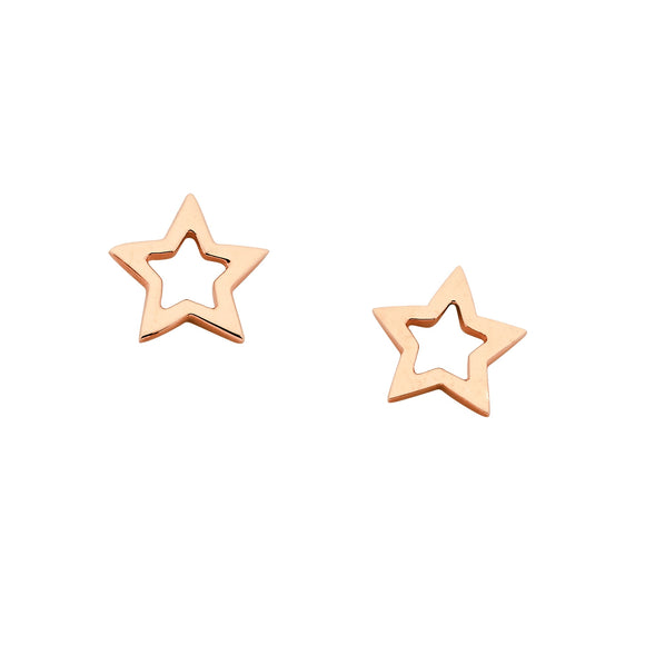 Karen Walker Mini Star Studs Rose Gold