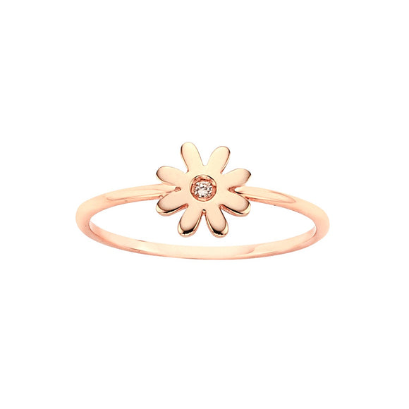 Karen Walker Mini Daisy Ring Rose Gold