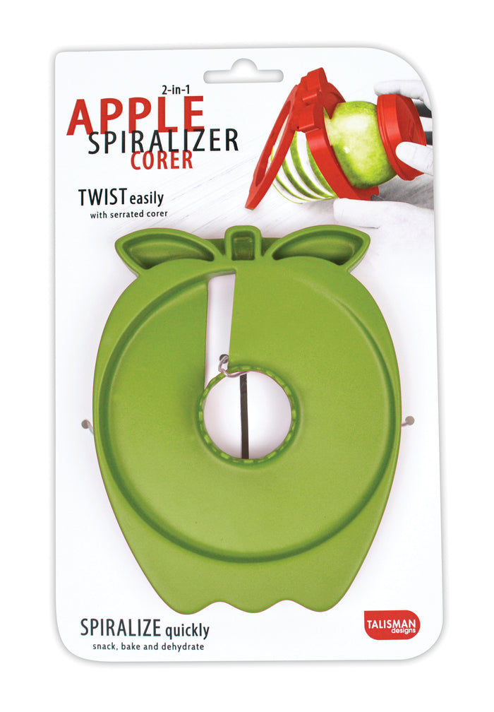 Talisman Designs 2-in-1 Apple Spiralizer Cutter and Corer - Simply Create Spiral Cut Apples