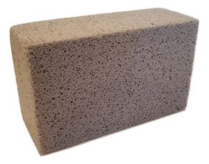 Grill Cleaning Block - Non-Slip Grip Natural Pumice Stone BBQ / Flat Top Griddle Cleaner Brick - Handy Housewares