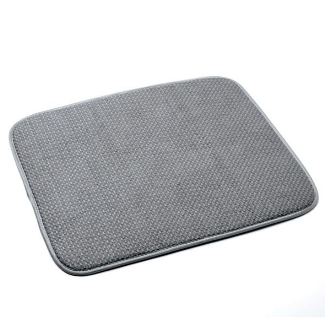 Norpro Washable Microfiber Dish Drainer Glass Drying Mat Pad