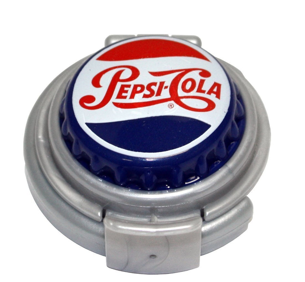 Pepsi Heritage Logo Pump & Pour Soda Pop Can Drink Fizz Keeper Lid Cap