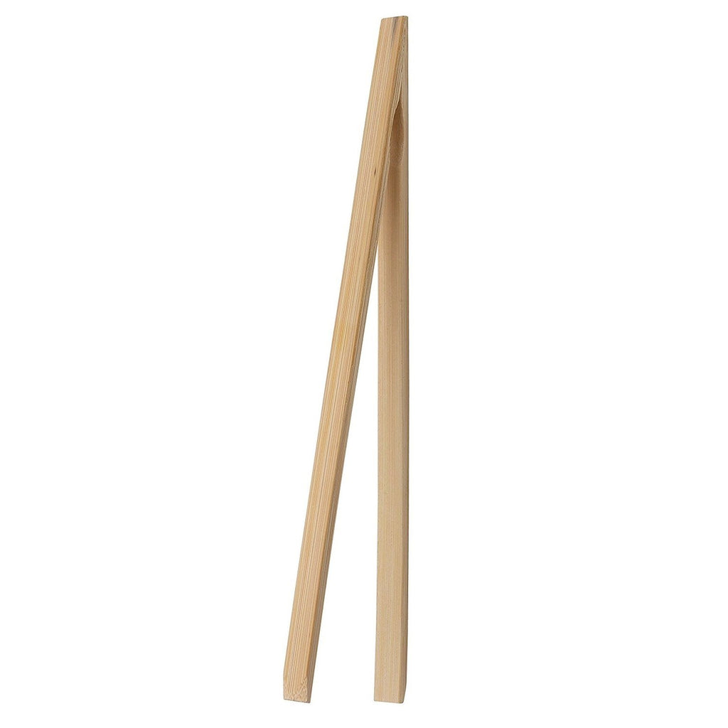 "HIC 12"" Natural Bamboo Toast Tongs"