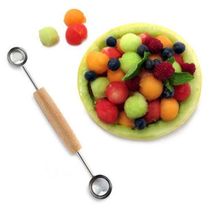 Norpro Double Melon Baller - Easily Scoop Decorative Balls of Fruit, Cheese or Ice Cream