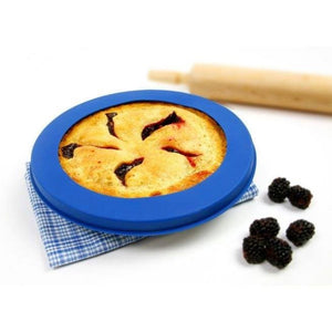 "Norpro Reusable Silicone Pie Crust Shield - Fits Up To 10"" - Prevents Burning & Spills"