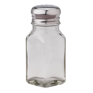 Classic 2.5-Ounce Diner Style Square Glass Salt or Pepper Shaker