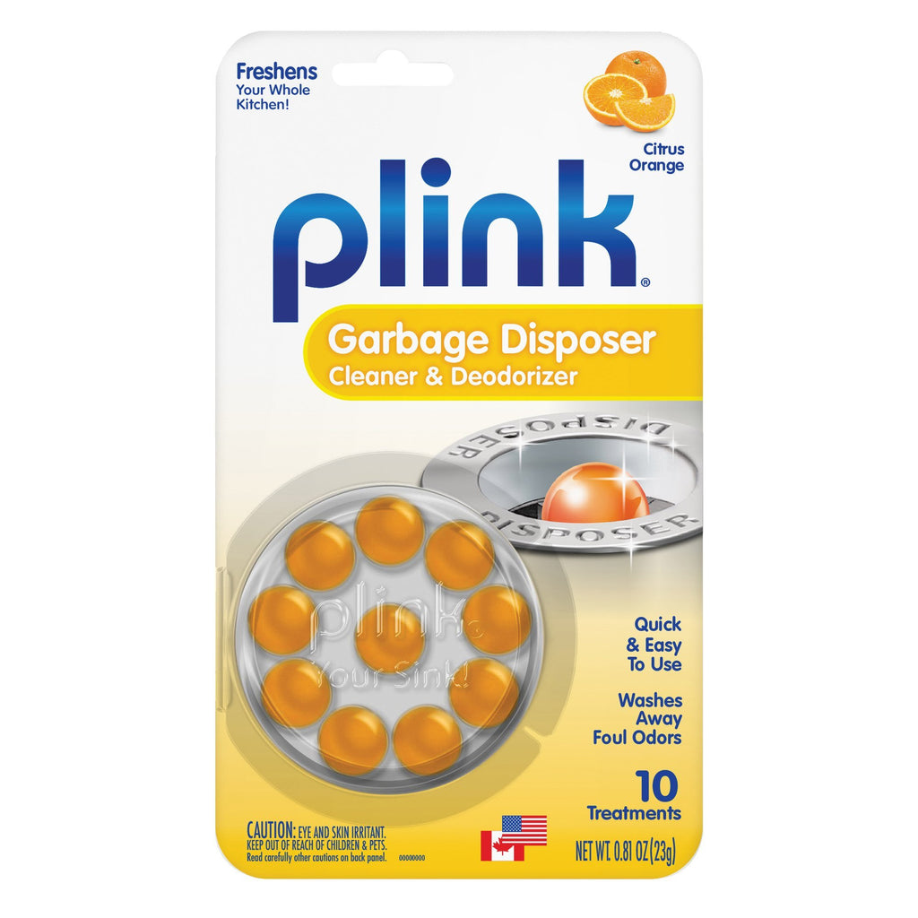 Plink Garbage Disposal Cleaner and Disposer Deodorizer 10 Treatment Pack - Orange Scent