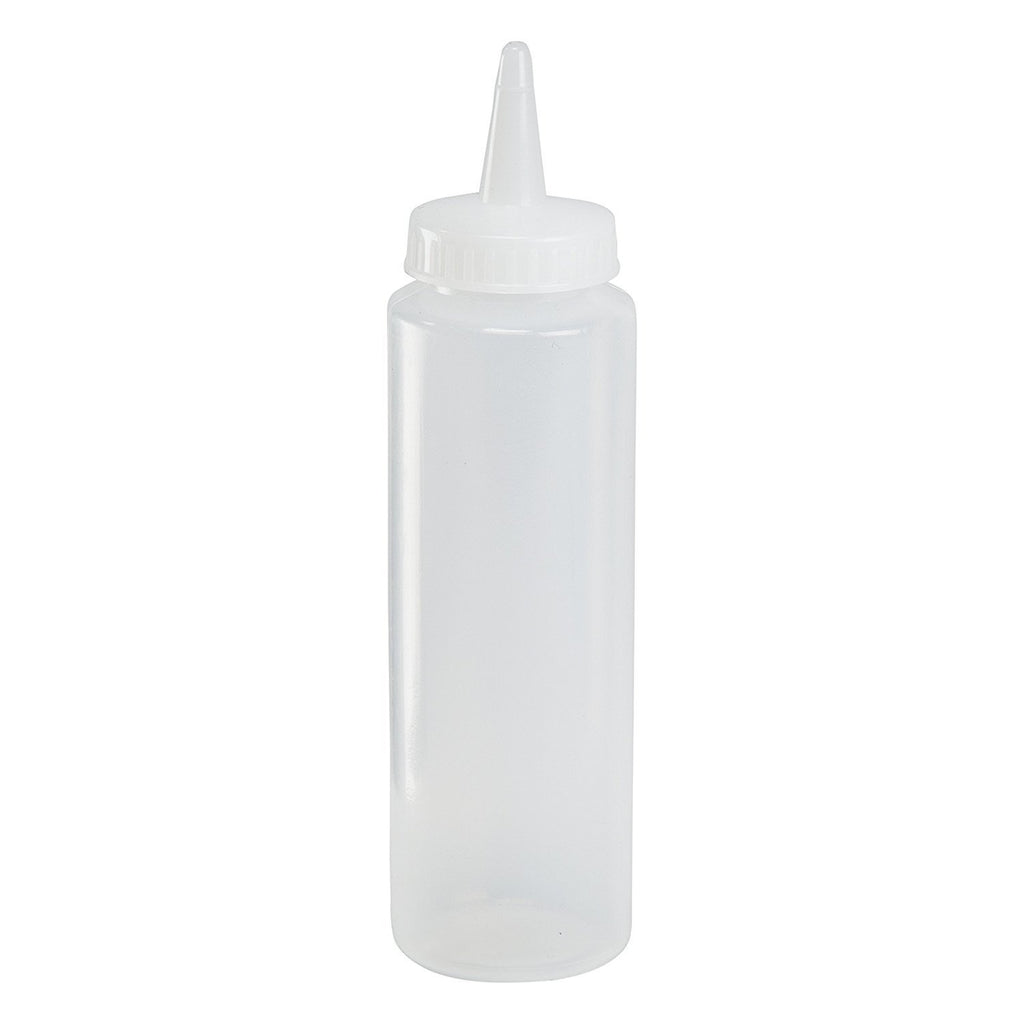 HIC 12 oz Clear Plastic Squeeze Bottle - Condiment Dispenser