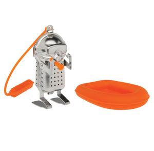HIC Scuba Diver Stainless Steel / Silicone Loose Leaf Tea Infuser with Drip Tray