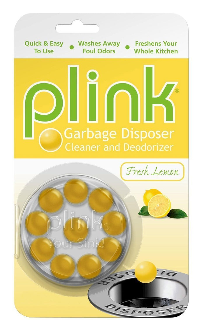 Plink Garbage Disposal Cleaner and Disposer Deodorizer 10 Treatment Pack- Lemon Scent