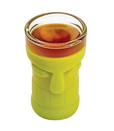 Joie 1.5 oz Tiki Themed Shot Glass with Silicone Sleeve - Random Color