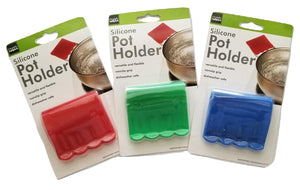 Flexible Non-Slip Grip Silicone Pot Handle Holder Finger Protector - Random Color