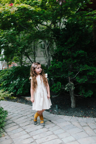 Wren & James linen pinafore in Natural