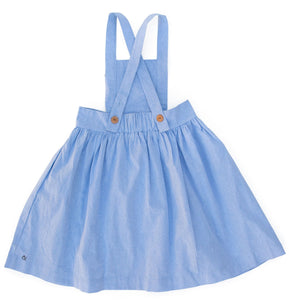 Apron Pinafore in Light Chambray