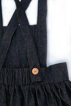 Load image into Gallery viewer, Apron Pinafore in Black Denim
