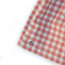 Load image into Gallery viewer, Pinafore in Terra-Cotta Gingham