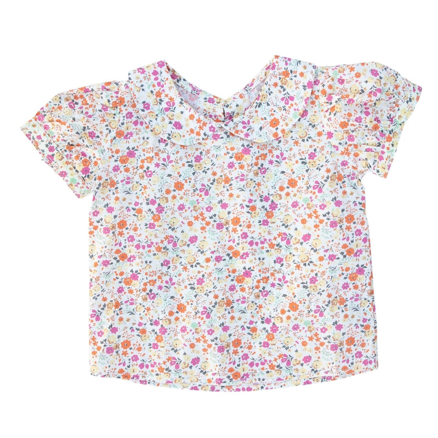 Peter Pan Collar Top in Harvest Garden