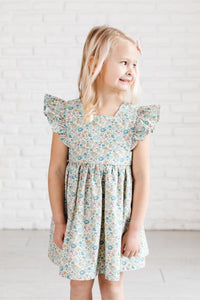 Pinafore in Pond Floral
