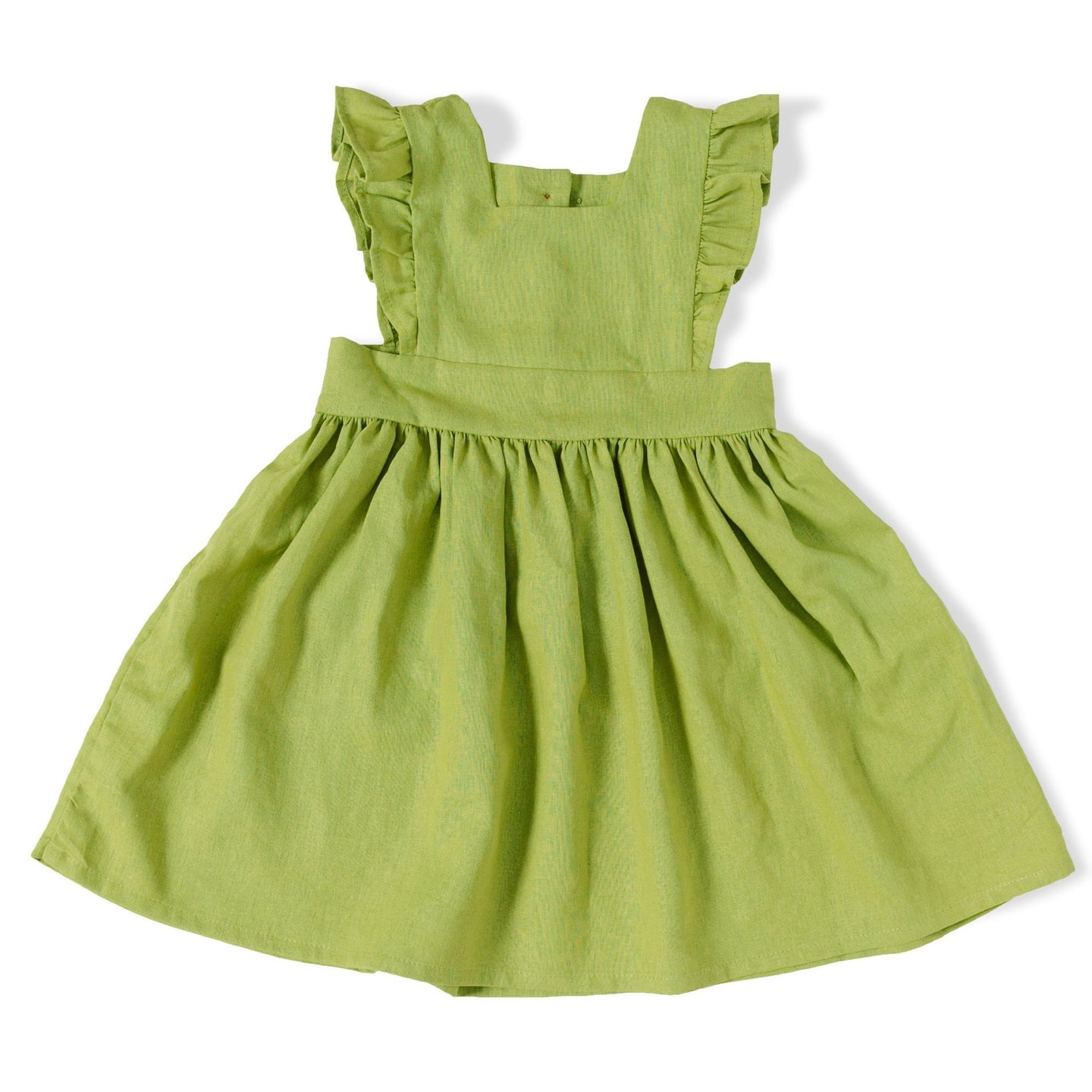 Linen Pinafore in Kiwi