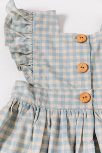 Blue Sky Gingham Pinafore