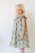 Load image into Gallery viewer, Annie Smocked Dress in Carolina Blue