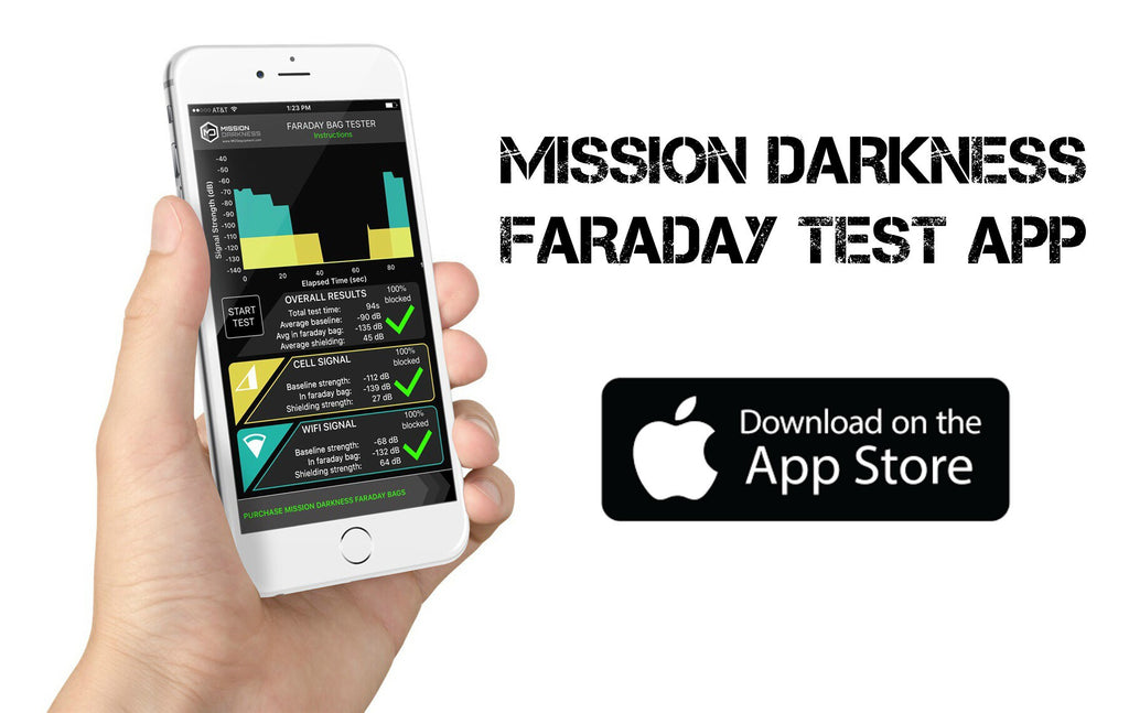 NEW Mission Darkness Faraday Bag Tester App for iOS
