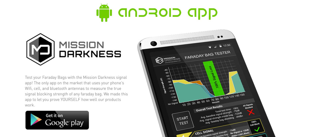 NEW Mission Darkness Faraday Bag Tester App