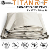 Mission Darkness™ TitanRF Faraday Fabric Panel