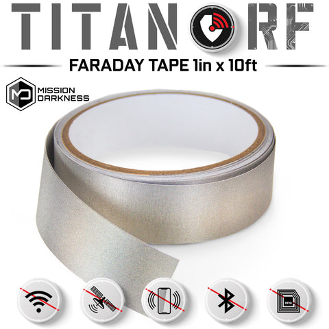 Mission Darkness™ TitanRF Faraday Tape - Multiple Sizes