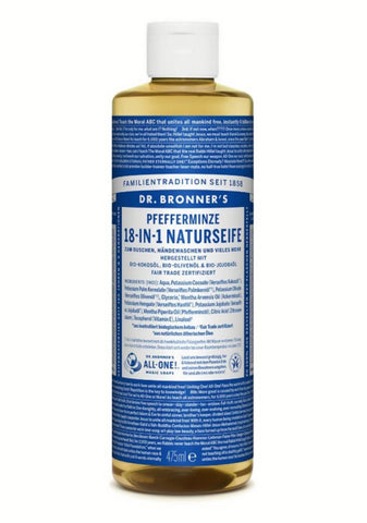 Dr Bronner's Pure Castile Soap Peppermint 16 oz