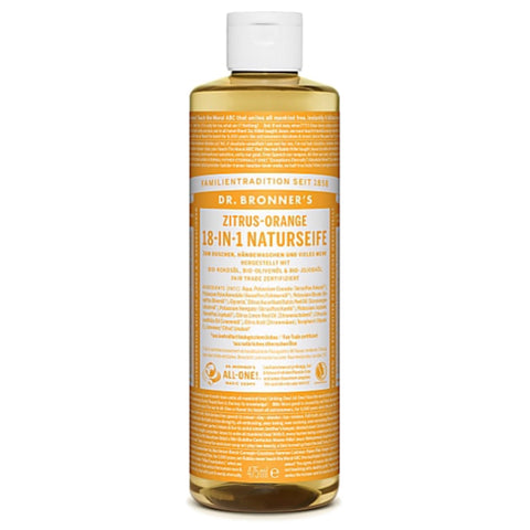 Dr Bronner's Pure Castile Soap Zitrus-Orange 16 oz