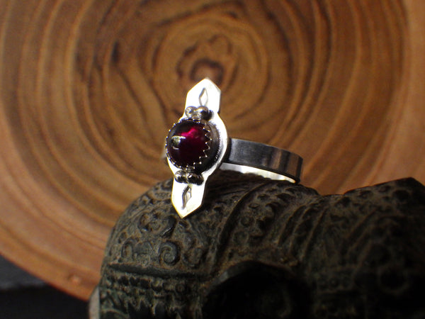 Dina Ring with Red Garnet