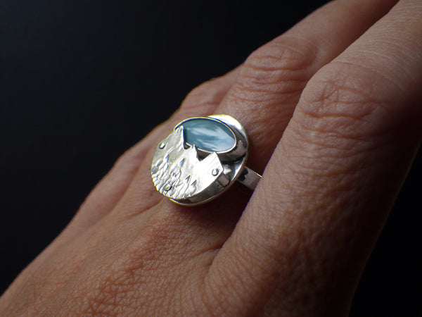 Aurora Ring with Opal