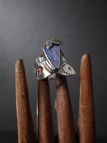 Baikal Ring with Opal