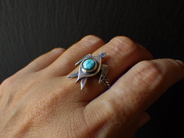Boracay Turtle Ring with Turquoise