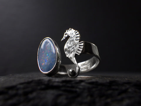 Haema Ring with Opal