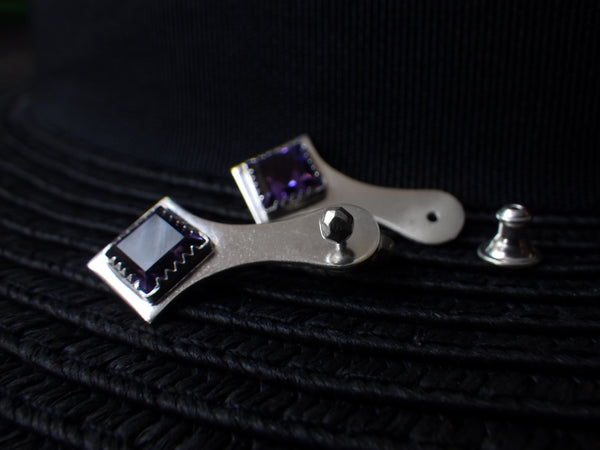 Marceline Earrings with Amethysts