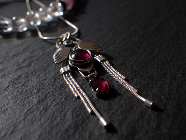 Yoni Necklace with Garnets