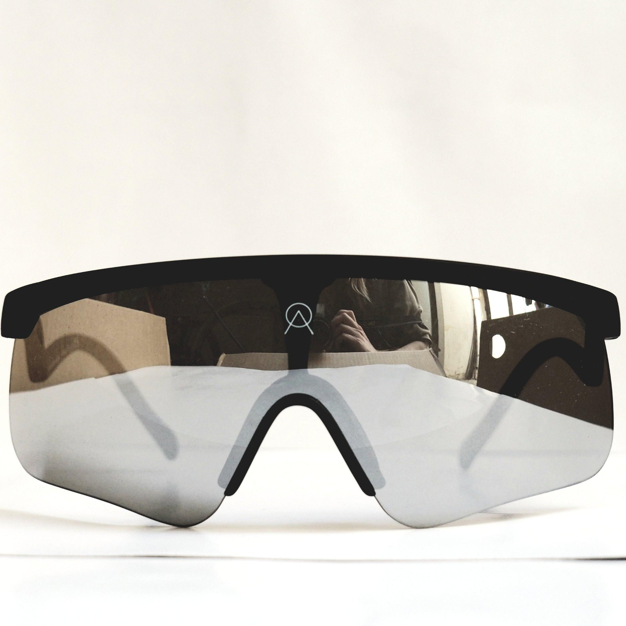 SUNGLASSES ALBA DELTA BLACK MR SILVER LENS