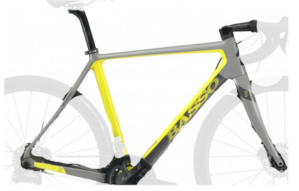 BASSO ASTRA FACTORY FRAME SET 53 GREY/YELLOW